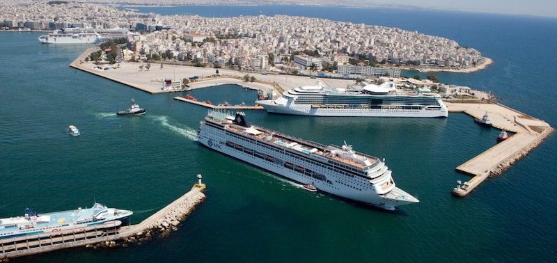 Piraeus port in Athens, Greece