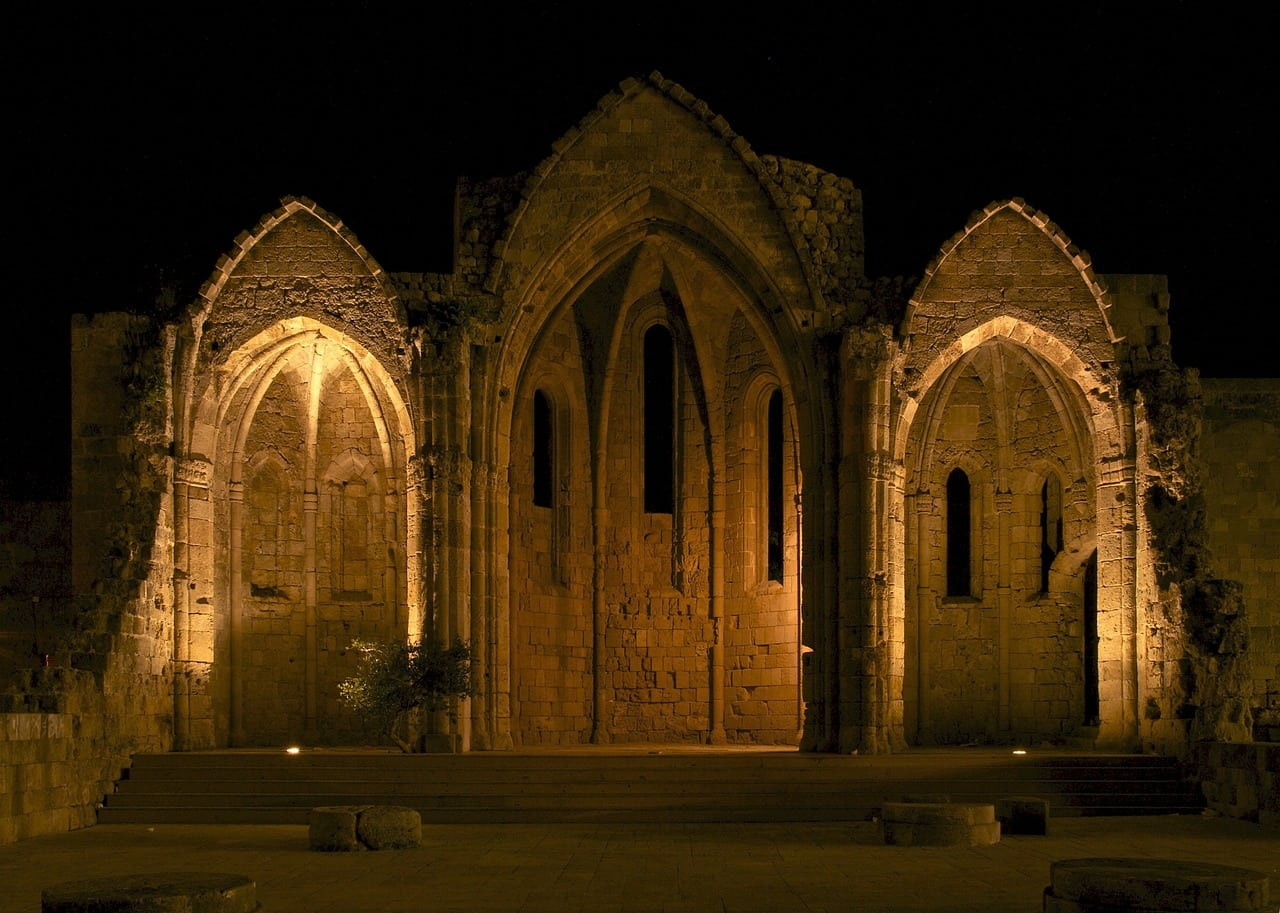 rhodes greece medieval church