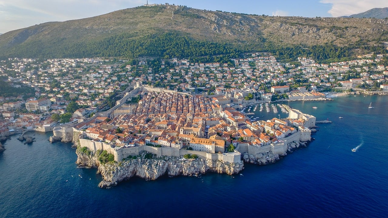 view point over dubrovnik croatia