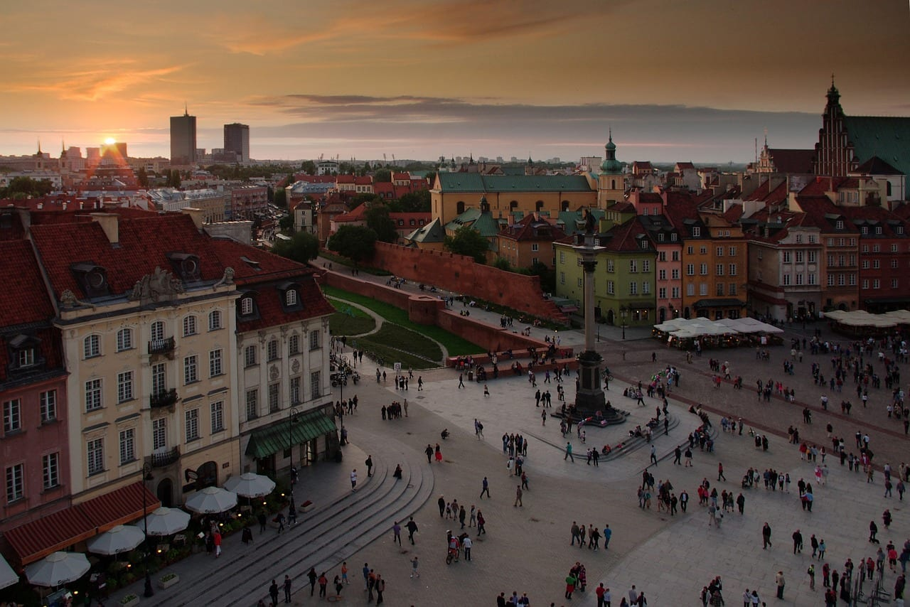 history of warsaw old town