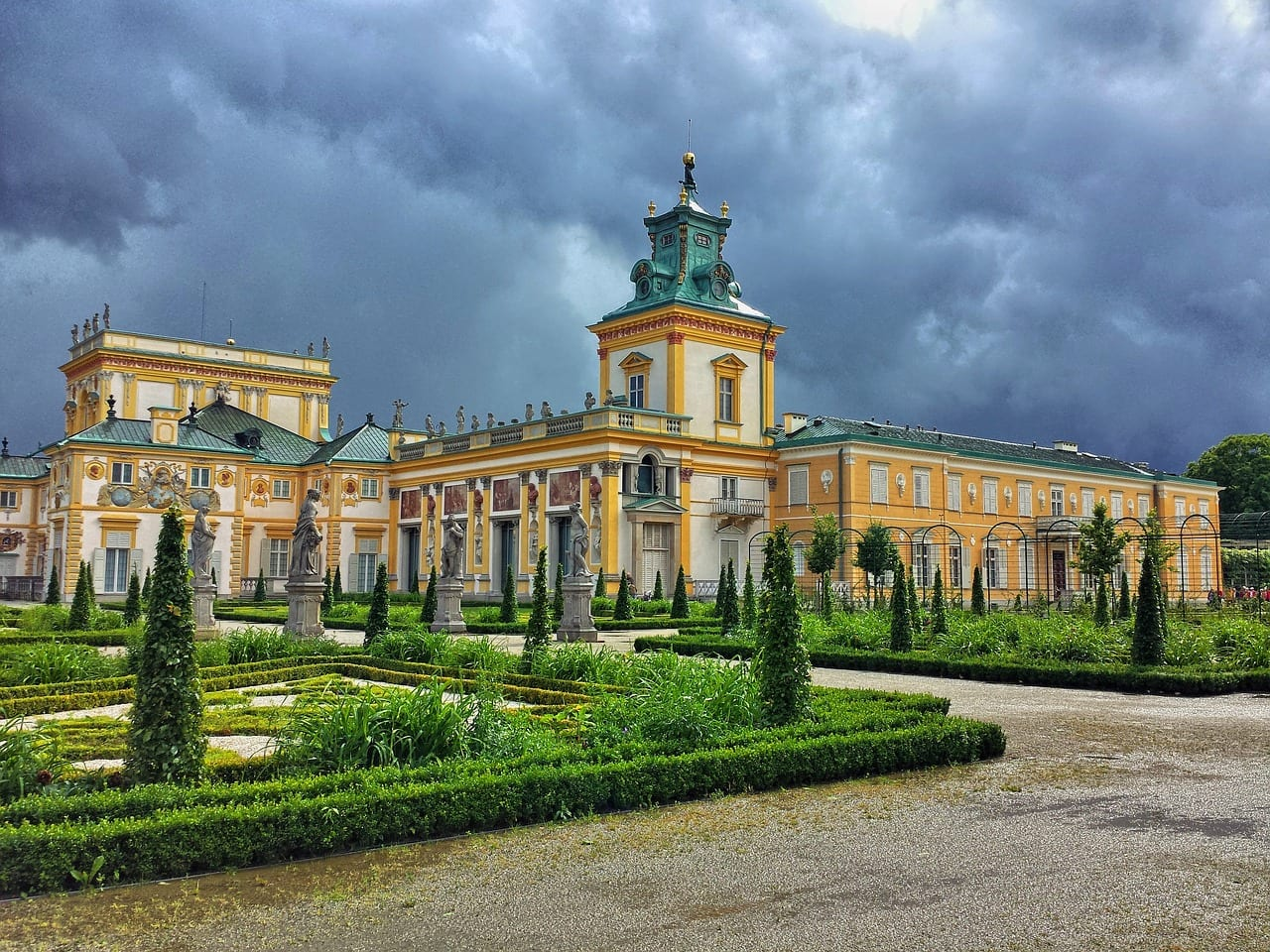 warsaw wilanow palace architecture