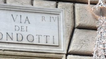 Rome Shopping Via dei Condotti SIgn