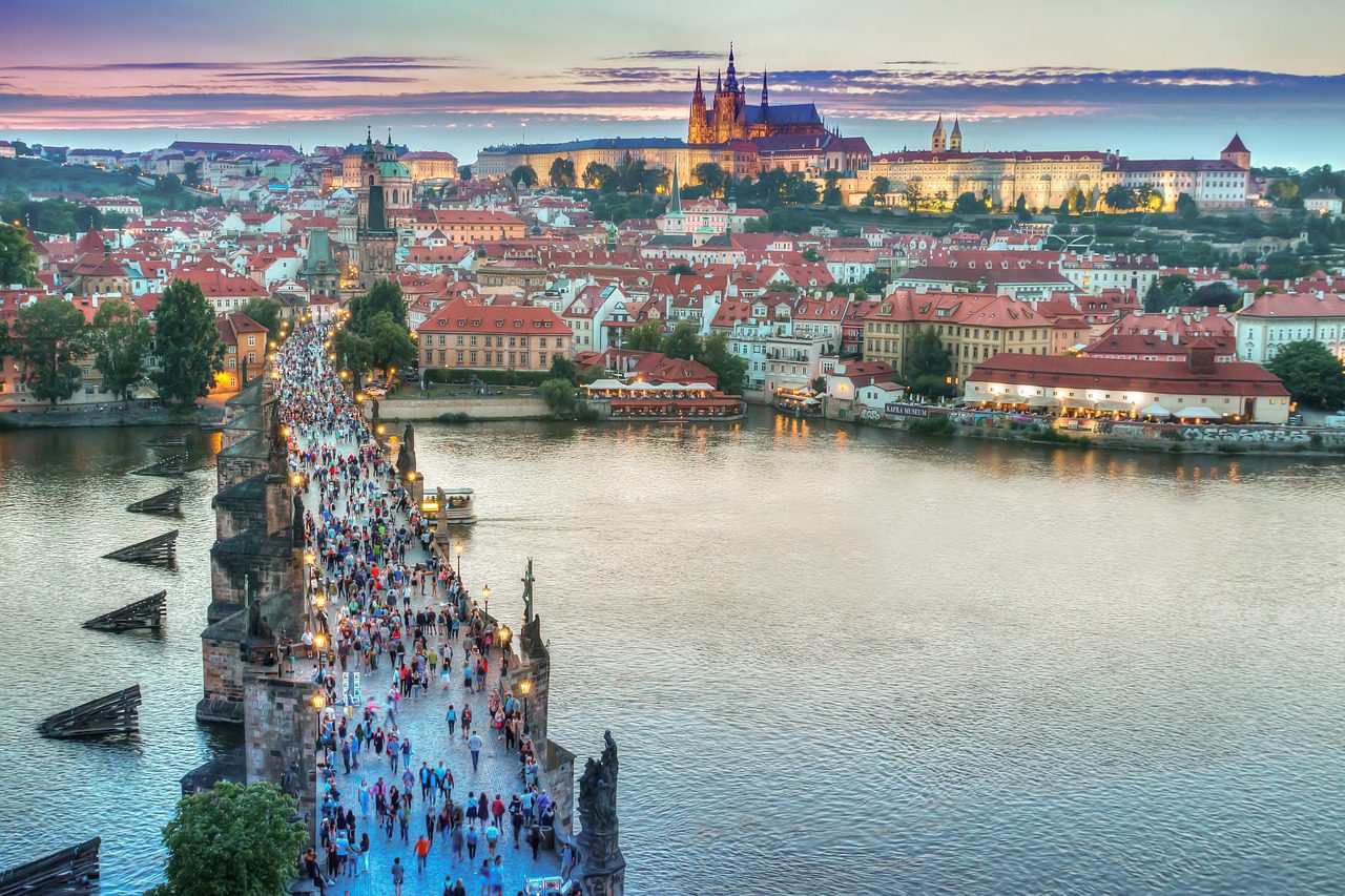 Charles Bridge panoramic