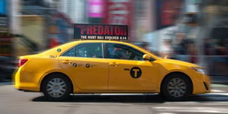 yellow taxi cab new york